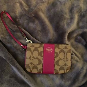 Lightly used coach wristlet